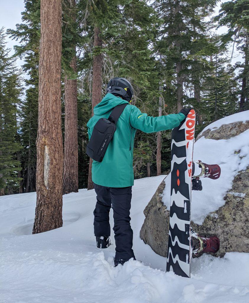 Beginner snowboarding at Lake Tahoe